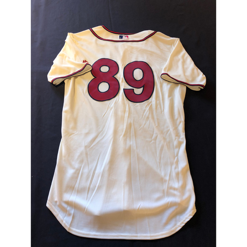 Cristian Perez -- Game-Used 1935 Throwback Jersey and Pants -- Rangers vs. Reds on June 15, 2019 -- Jersey Size 44 / Pants Size 34-39-19