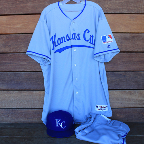 Photo of Game-Used 1969 Throwback Jersey, Pants and Cap: Wily Peralta (Jersey Size 52 - KC @ WSH  - 7/6/19)