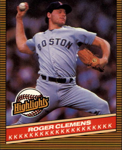 Photo of 1986 Donruss Highlights #5 Roger Clemens