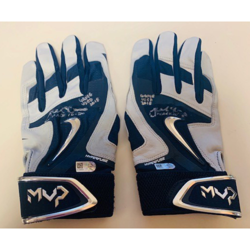 Photo of Autographed Team-Issued Batting Gloves: James McCann