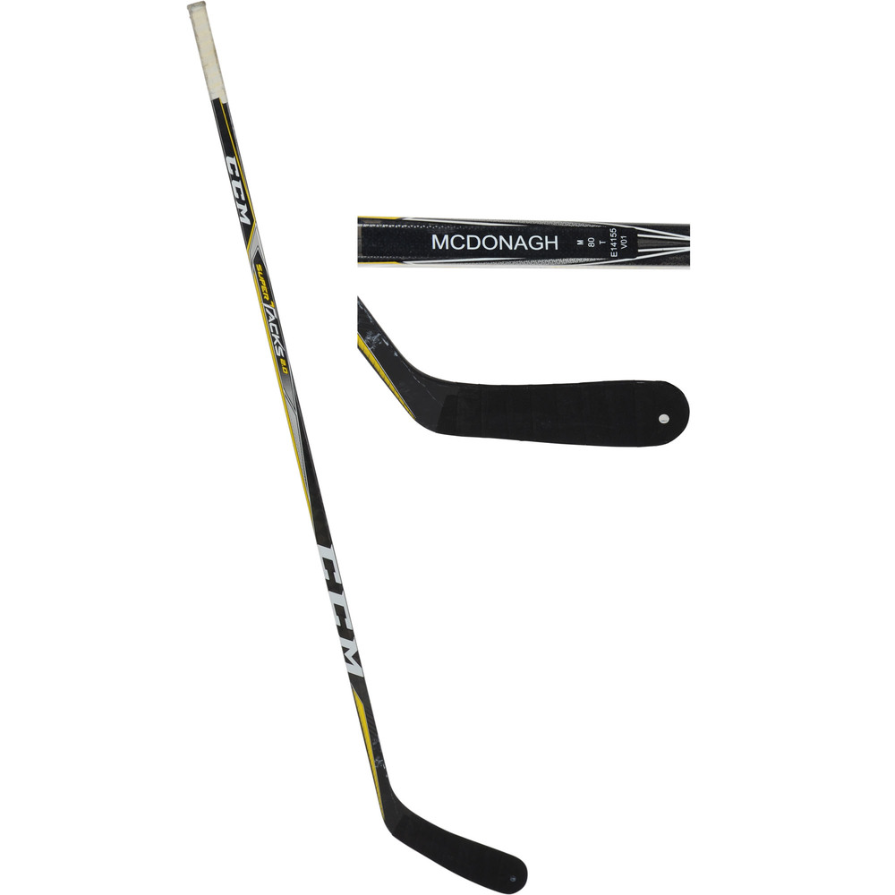 Ryan McDonagh New York Rangers Game-Used CCM Stick from the 2017-18 NHL Season