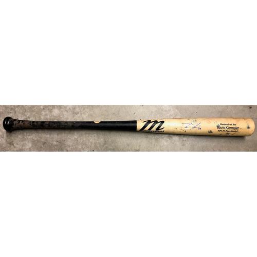 Photo of Game Used Autographed Broken Bat: Kevin Kiermaier - ALDS - October 4, 2019 v HOU