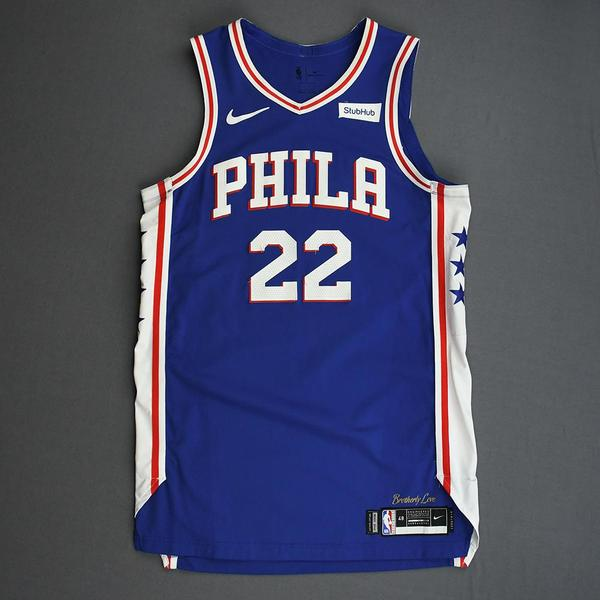 Image of Matisse Thybulle - Philadelphia 76ers - Game-Worn Icon Edition Rookie Debut Jersey - Opening Night 2019-20 Season