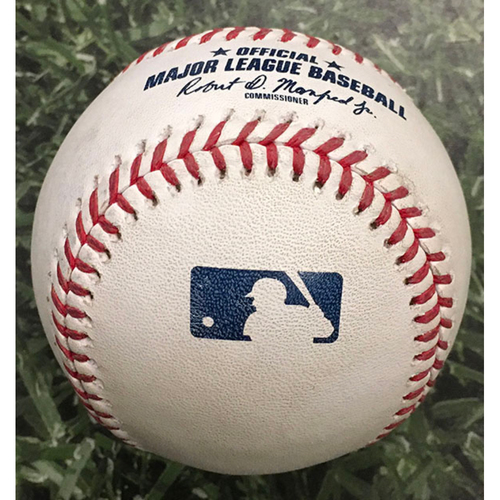 Photo of ALEC MILLS' NO-HITTER Game-Used Baseball CHC@MIL 09/13/20