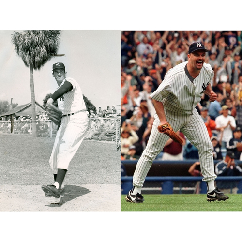 Photo of LOT #36: Perfect Game Pair: Don Larsen Autographed Perfect Game 1956 Baseball & David Wells Autographed Baseball