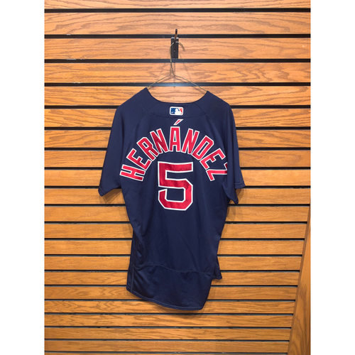 Photo of Kiké Hernández June 15, 2021 Game Used Road Alternate Jersey - 1 for 5
