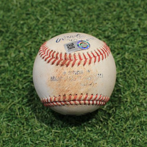 Photo of Game-Used Baseball: Bobby Bradley 58th Career Hit (CLE@KC 9/30/21)