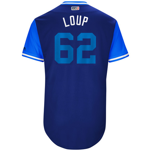 "Photo of Aaron ""Loupy"" Loup Toronto Blue Jays Game-Used Players Weekend Jersey"