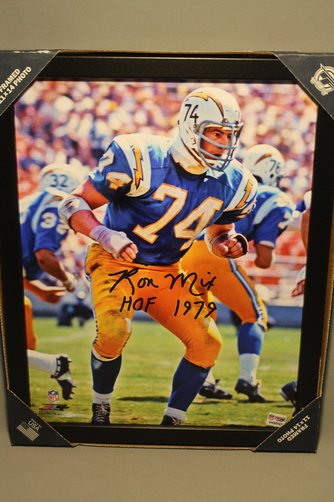 HOF - CHARGERS RON MIX SIGNED 11X14 FRAMED PICTURE