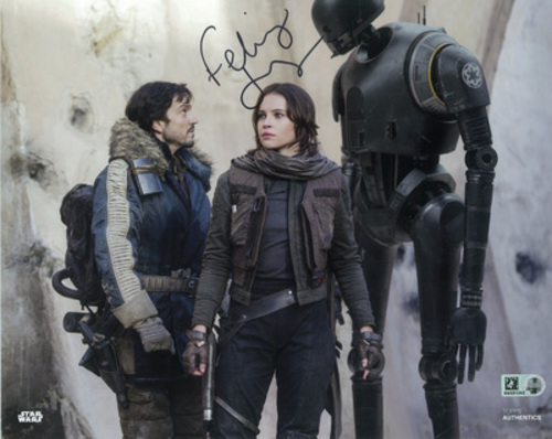 Felicity Jones as Jyn Erso 8x10 Autographed in Black Ink Photo