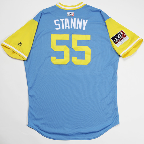 "Photo of Ryan ""Stanny"" Stanek Tampa Bay Rays Game-Used 2018 Players' Weekend Jersey"