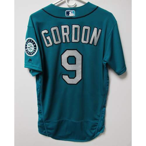 Photo of Seattle Mariners Dee Gordon Alternate Teal Game Used Jersey - 8/3/2018 vs. TOR