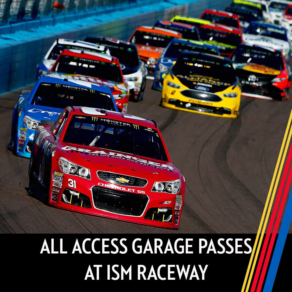 All Access Garage Passes at ISM Raceway for the entire race weekend!