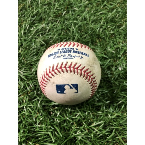 Photo of Game-Used Baseball: Gerrit Cole strikes out Austin Meadows - March 29, 2019