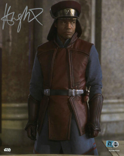 Hugh Quarshie As Captain Panaka 8X10 AUTOGRAPHED IN 'SILVER' INK PHOTO