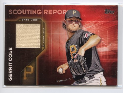Photo of 2016 Topps Scouting Report Relics #SRRGC Gerrit Cole S2