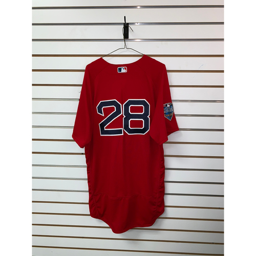 JD Martinez Team Issued 2018 World Series Home Alternate Jersey