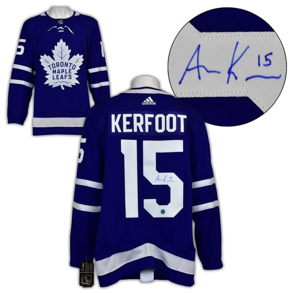 Alex Kerfoot Toronto Maple Leafs Autographed Adidas Authentic Hockey Jersey