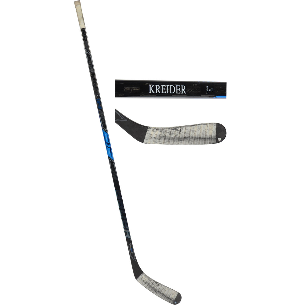 Chris Kreider New York Rangers Game-Used Bauer Stick from the 2018-19 NHL Season