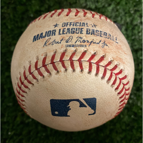 Photo of Freddie Freeman Game Used Hit RBI Single Baseball - July 18, 2019