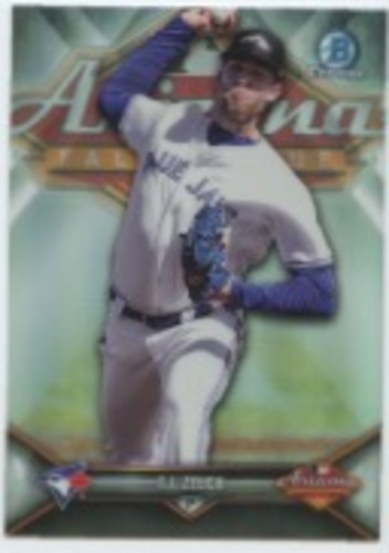 Photo of 2018 Bowman Chrome '17 AFL Fall Stars Refractors #AFLTZ T.J. Zeuch