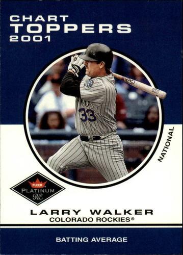 Photo of 2001 Fleer Platinum #424 Larry Walker CT