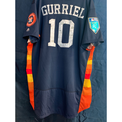 Photo of 2018 Team-Issued Yuli Gurriel Navy Alt Spring Training Jersey (Size 48)