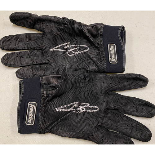 Photo of 2020 Cyber Monday Sale - #53 Austin Slater Team Issued Autographed Black Franklin Batting Gloves