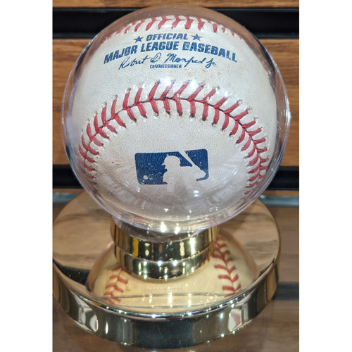 Photo of August 10, 2020 Red Sox vs. Rays Game Used Baseball