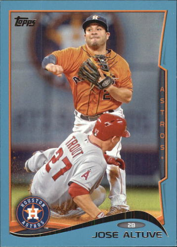 Photo of 2014 Topps Wal-Mart Blue Border #210 Jose Altuve