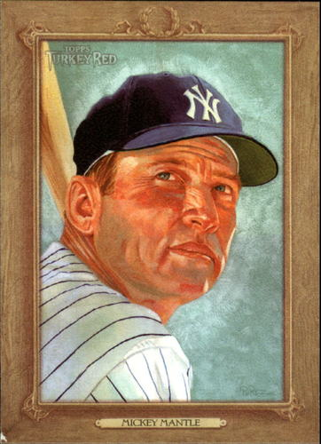 Photo of 2007 Topps Turkey Red #77 Mickey Mantle -- Hall of Fame Class of 1974