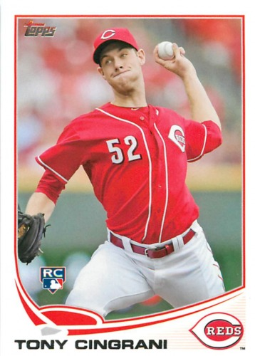 Photo of 2013 Topps #142 Tony Cingrani Rookie Card