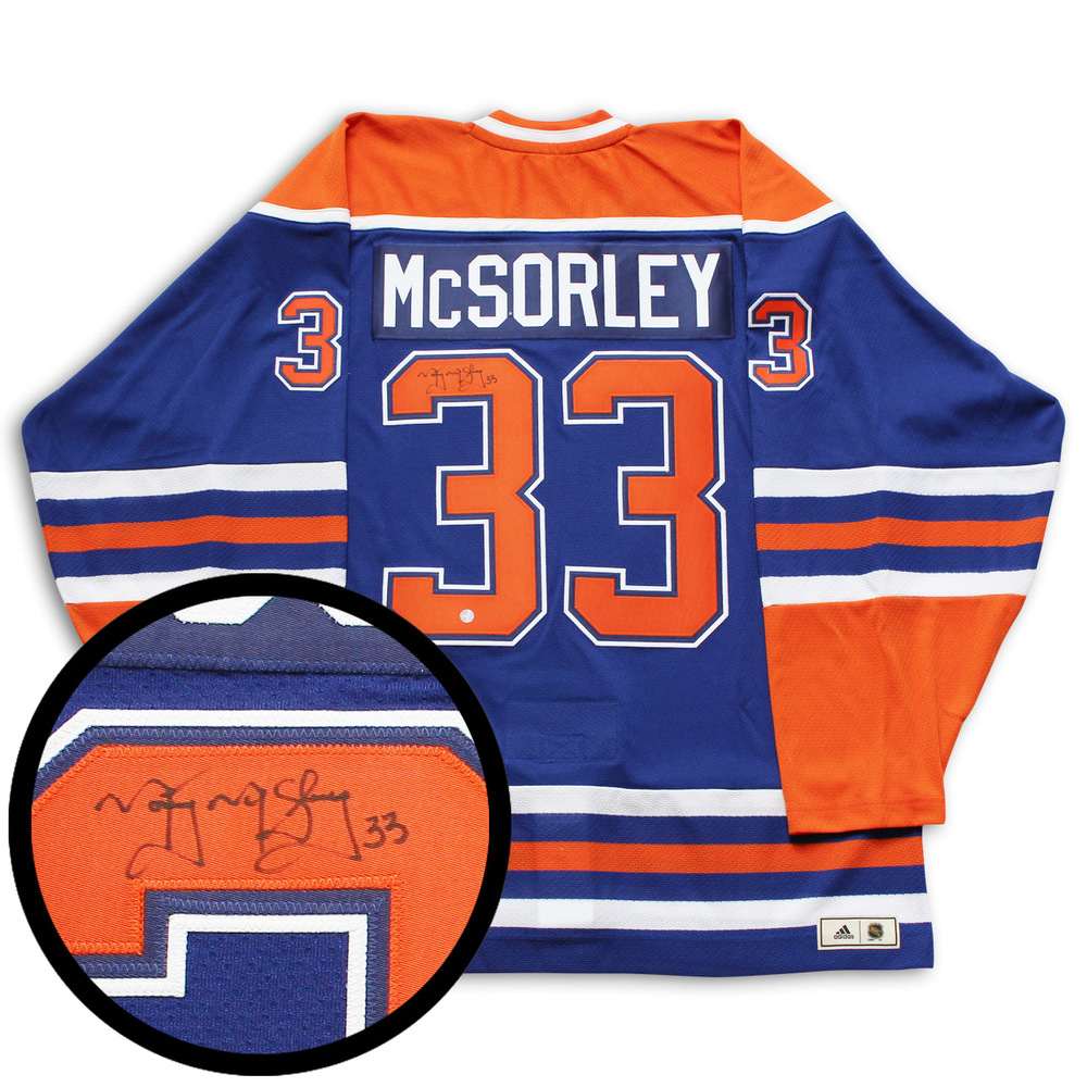 McSorley,M Signed Jersey Oilers Pro Blue Classics Adidas