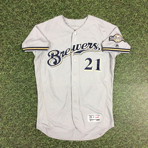 Photo of Travis Shaw 2018 Game-Used Opening Day Jersey