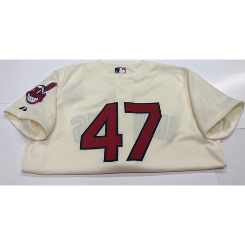 Photo of Trevor Bauer Team Issued 2013 Alternate Home Jersey