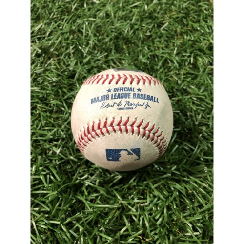 Photo of Game-Used Baseball: George Springer ground out, Jose Altuve single and Alex Bregman line out off Chaz Roe - March 30, 2019 v HOU