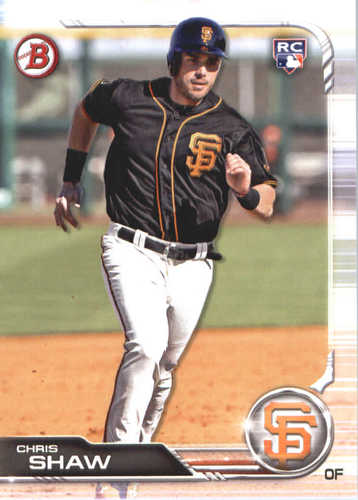 Photo of 2019 Bowman #42 Chris Shaw RC