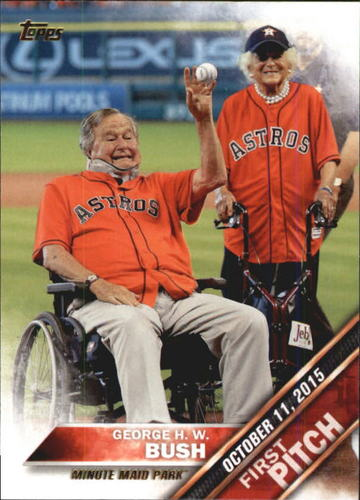 Photo of 2016 Topps First Pitch #FP17 George H. W. Bush S2