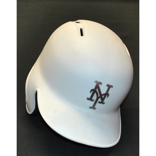 "Photo of Luis ""LUISMI"" Guillorme New York Mets Game-Used 2019 Players' Weekend Helmet"