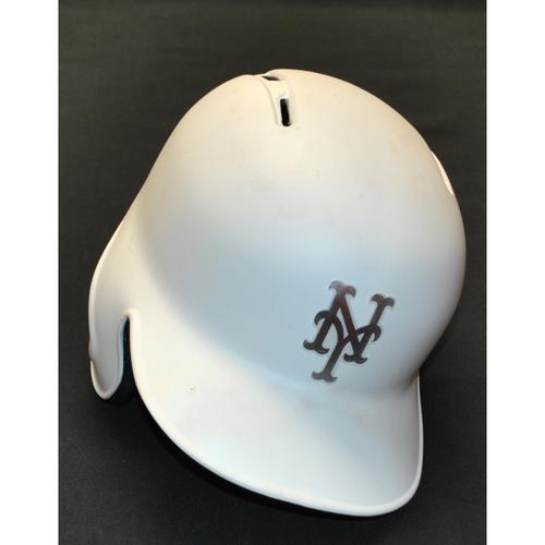 """Photo of Luis """"LUISMI"""" Guillorme New York Mets Game-Used 2019 Players' Weekend Helmet"""