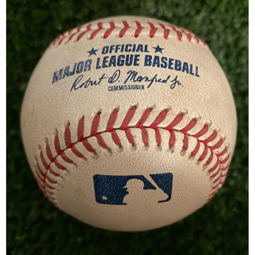 Photo of Dallas Keuchel Game Used Hit Double Baseball - July 23, 2019