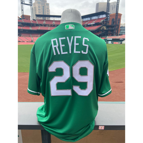 Photo of Cardinals Authentics: Alex Reyes Game Worn St. Patrick's Day Jersey