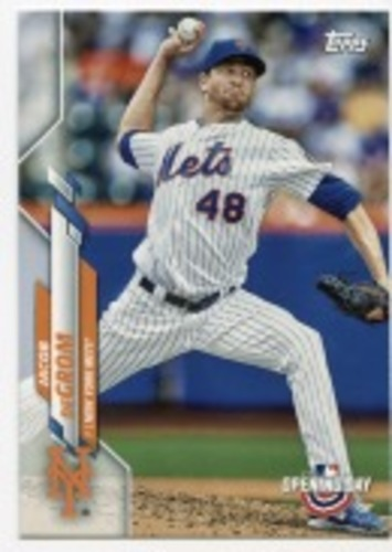 Photo of 2020 Topps Opening Day #187 Jacob deGrom