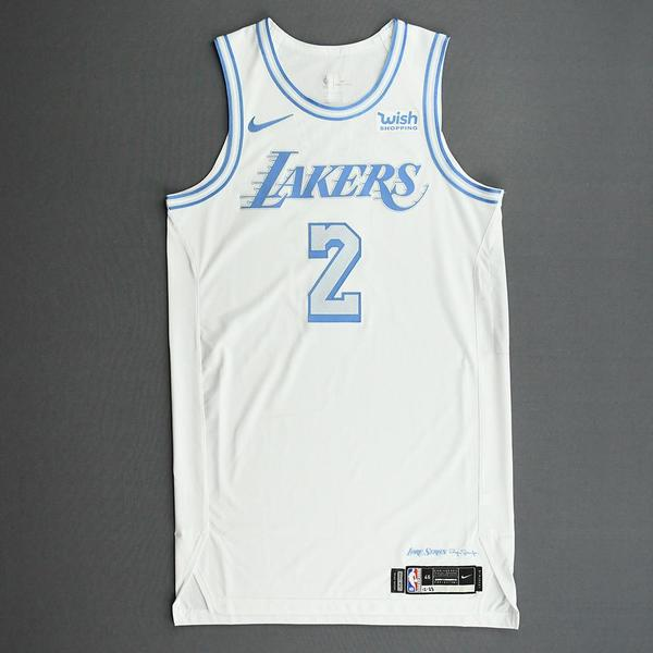 Image of Quinn Cook - Los Angeles Lakers - Christmas Day' 20 - Game-Worn City Edition Jersey