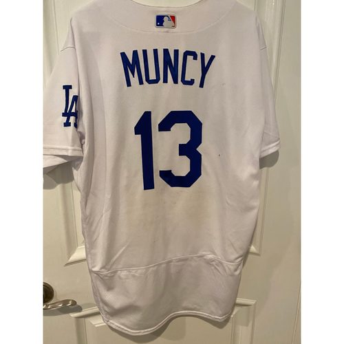 Photo of Max Muncy 2020 Game-Used Home Wild Card Game Jersey - Game 1