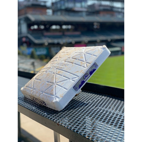 Photo of 2021 Colorado Rockies Game-Used Base (April) - PRESALE: Choose your Game Date!