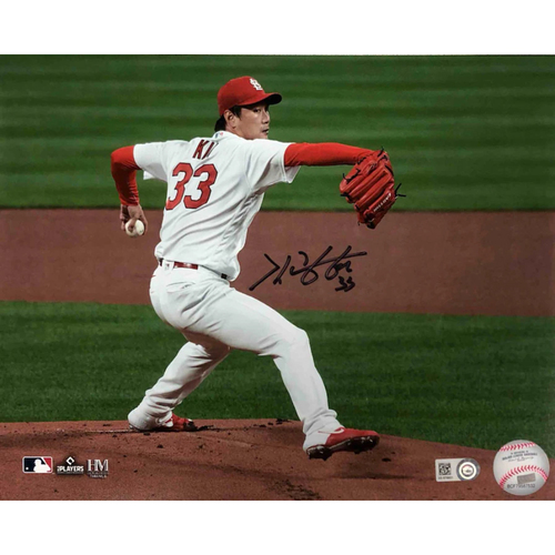 Photo of Cardinals Authentics: Kwang-Hyun Kim Autographed Photo