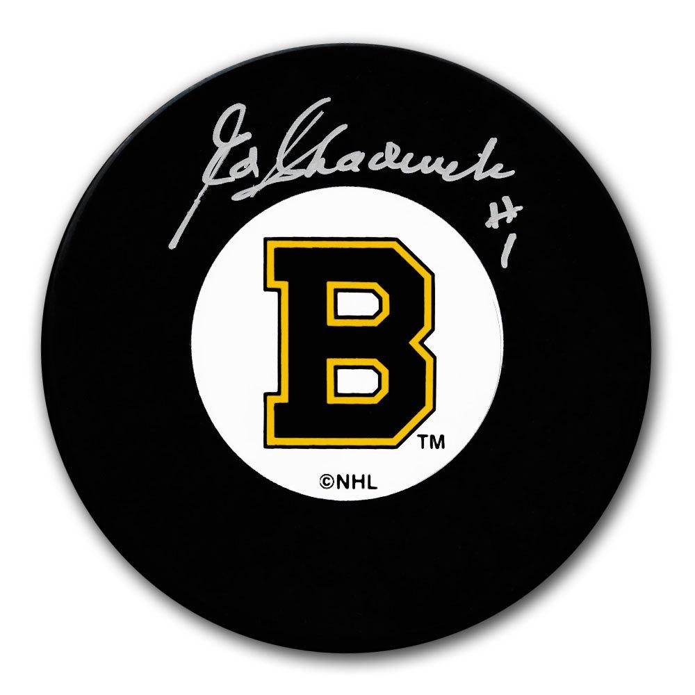 Ed Chadwick Boston Bruins Original 6 Autographed Puck