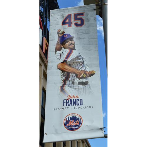 Photo of John Franco #45 - Citi Field Banner - 2018 Season