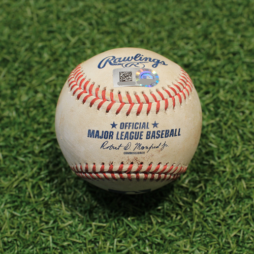 Photo of Game-Used Baseball: Amed Rosario 88th Career Double & 203rd Career RBI (CLE@KC 9/29/21)